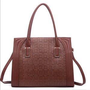 Handbags - Great Large Structure Tote Dariela Weave Brown NWT